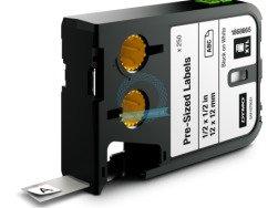 RHINO XTL wymiarowe etykiety 12 mm x 12 mm - czarne na białym