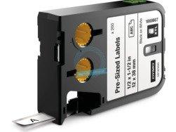 RHINO XTL wymiarowe etykiety 12 mm x 38 mm - czarne na białym