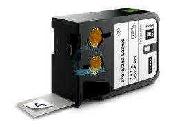 RHINO XTL wymiarowe etykiety 25 mm x 25 mm - czarne na białym