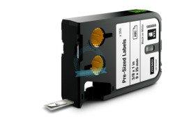 RHINO XTL wymiarowe etykiety 9 mm x 25 mm - czarne na białym