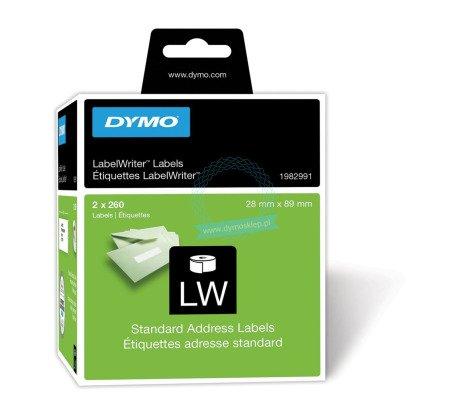 Etykiety adresowe Dymo 89 x 28 mm - 520 etykiet