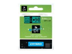 Standardowa taśma Dymo D1 - 9mm x 7m - czarny/zielona