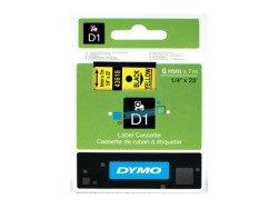 Standardowa taśma Dymo D1 - 6mm x 7m - czarny/żółta