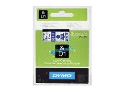 Standardowa taśma Dymo D1 - 24mm x 7m - niebieski/biała