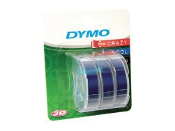 Taśma do wytłaczarek Dymo 3D tłoczona BLISTER, 3 rolki, niebieska, 9mm x 3m